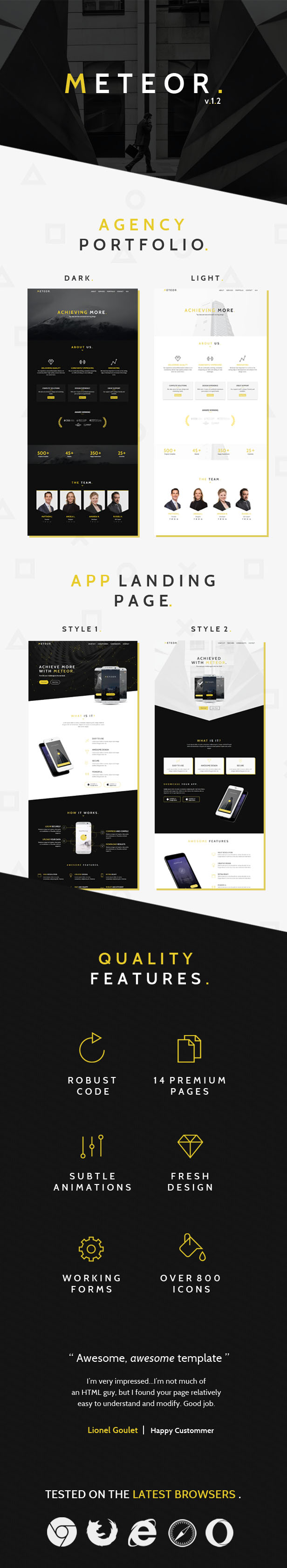 Meteor Creative 2in1 HTML Template - 1